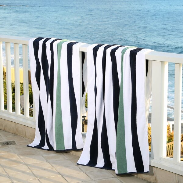 Plush Cabana 100% Cotton Beach Towel (Set of 2) by Laguna Beach Textile Company